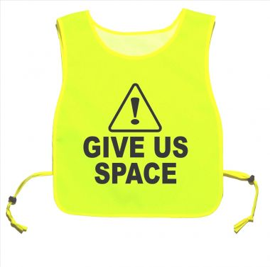 Caution Give Us Space Yellow tabard Walking Training 06