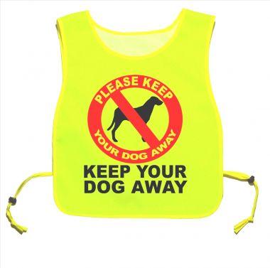 Keep Your Dog Away Yellow tabard Walking Training 07