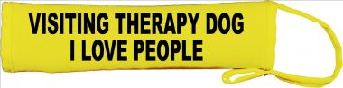 visiting therapy dog - I love people Lead Cover / Slip