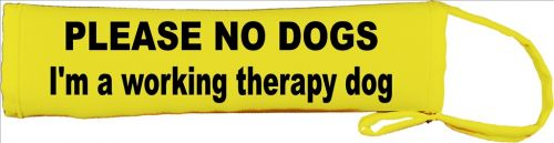 PLEASE NO DOGS - I'm a working therapy dog Lead Cover / Slip