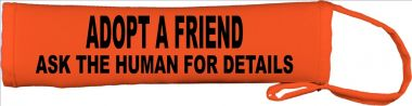 Adopt A Friend Ask The Human For Details Lead Cover / Slip