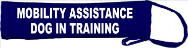Mobility Assistance Dog In Training Lead Cover / Slip