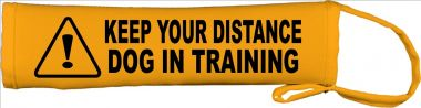 Caution: Keep Your Distance - Dog In Training Lead Cover / Slip
