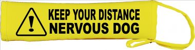 Keep Your Distance Nervous Dog Lead Cover / Slip
