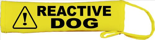 Caution Reactive Dog Lead Slip Cover I deal for dogs that need space nervous