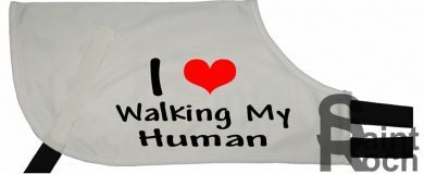 I Love Walking My Human - Greyhound Coat